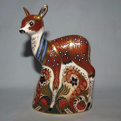 Royal Crown Derby paperweight Collectors Guild Fawn Gold Stopper