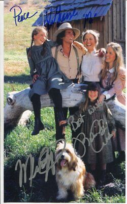 cast of 3 LITTLE HOUSE ON THE PRAIRIE autograph HAND SIGNED 1885