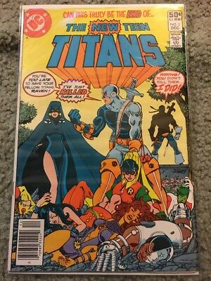 NEW TEEN TITANS 2 1st Deathstroke! Possible Batman movie villain! Not CGC VF