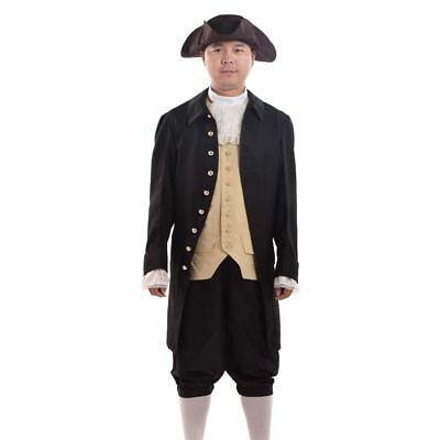 Rococo Cosplay Suits Colonial Revolution Costume Uniform Vintage Men Outfits