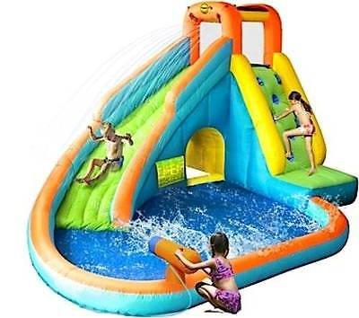 HAPPY HOP 9117N Island Water Slide and Pool