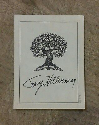 Vintage Tony Hillerman Signed Book Plate