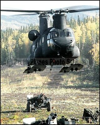 US Army CH-47 Chinook Helicopter Eielson AFB 1988 8x10 Photo