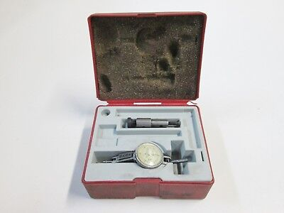 """Interapid .0005"""" 312B-2 Dial Test Indicator with Case, Swiss Made"""