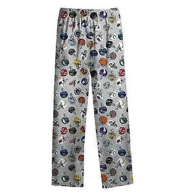 NWT Boys NFL Licensed Football Helmet Lounge Pajama Bottoms Pants S M L XL Grey