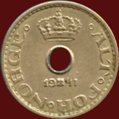 1941 Norway 10 Ore Coin