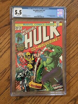 Marvel Incredible Hulk #181 CGC 5.5 *WHITE PAGES* FIRST APPEARANCE WOLVERINE!