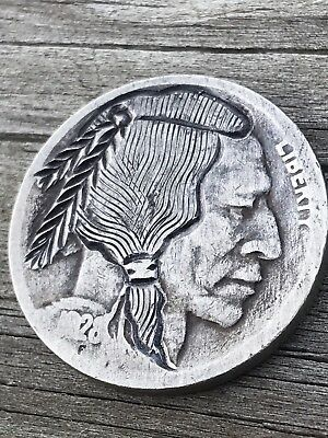 1928 Brave Indian Hobo Nickel Art Coin