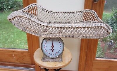 Antique K & K Wicker Baby Scale From The 30's Works Great