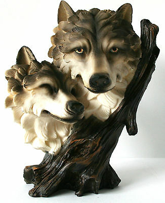 "WOLF figurine statue 9 1/2"" tall Resin Trippie's NEW IN BOX"