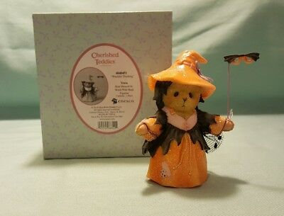 """Cherished Teddies Tricia """"Witchful Thinking"""" 404051 Dressed as Witch w Bat Mask"""