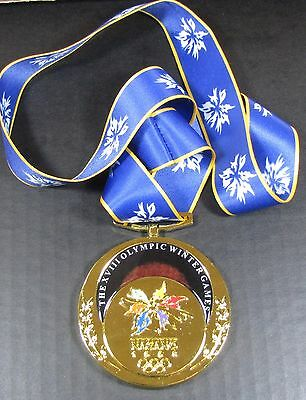 Gold Medal - 1998 Nagano, Japan Olympics - With Silk Ribbon & Storage Pouch