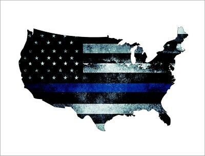 Texas State Thin Blue Line Decal TX Tattered American Flag Police Sticker VAR