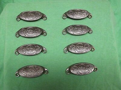Antique Hardware- Lot of 8 Ornate Victorian Cast Iron Bin Drawer Pulls Pat 1873