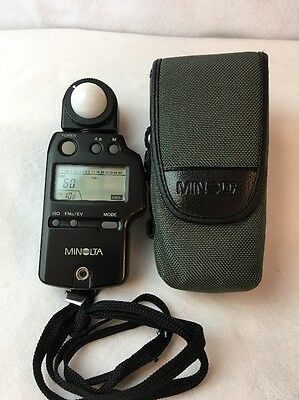 Minolta Auto Meter IV F Ambient/Flash Light Meter from Japan *Excellent* E19