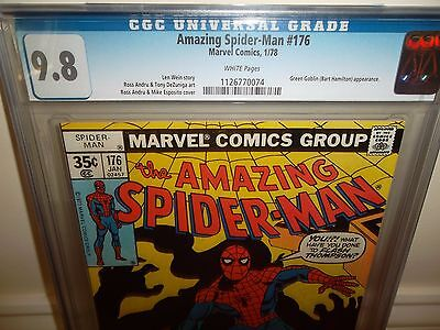 The Amazing Spider-Man #176 (Jan 1978, Marvel) CGC 9.8 White Pages! Green Goblin