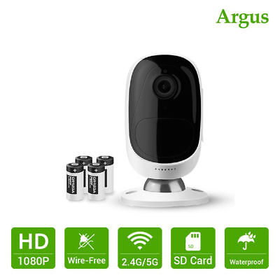 Reolink Argus Wireless Battery Powered Full HD Home Security IP Camera Monitor