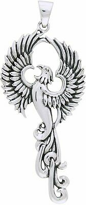 Jewelry Trends Rising Phoenix Sterling Silver and 18k Gold-Plated Pendant Necklace 18