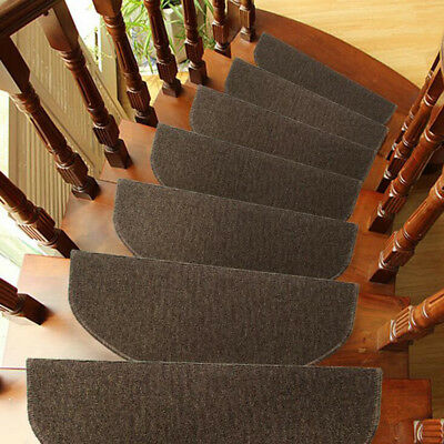 Wearable Carpet Stair Tread Door Mats Anti-skid Step Rugs with Right Angled Bend