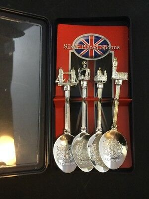 New Big Ben Crown London Bridge Collectible Spoon Collection 4 Souvenir England