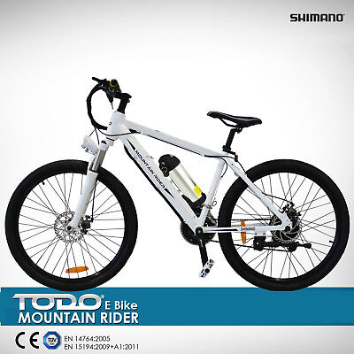 ELECTRIC BIKE 36V 9Ah 250W MOTOR PEDAL ASSIST SHIMANO GEARS MTB PAS BICYCLE WHT