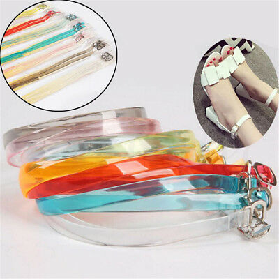 Transparent Silicon Shoe Straps Laces Band for Holding Loose High Heeled Shoes