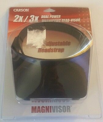 Carson Magnivisor Magnifying Head Visor 2X/3X Dual Power New