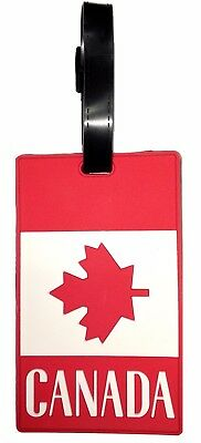 450origin Canada flag luggage tag with ID