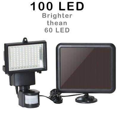 100 LED Outdoor Solar Power Motion Sensor Garden Floodlight PIR Security Light