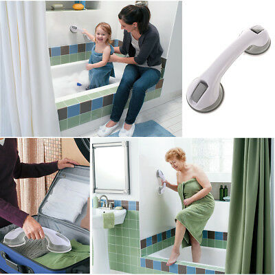 Grip Suction Cup Handrail Bath Tub Bathroom Shower Grab Bar Safety Handle White