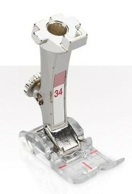 Bernina #34 Reverse pattern foot with clear sole Foot (White Box)