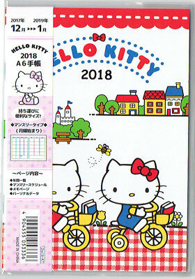 Hello Kitty 2018 Calendar Schedule Book A6 Size Japanese Holidays Sanrio Kawaii