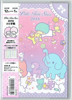 Little Twin Stars 2018 Calendar Schedule Book A6 Size Japanese Holidays Sanrio