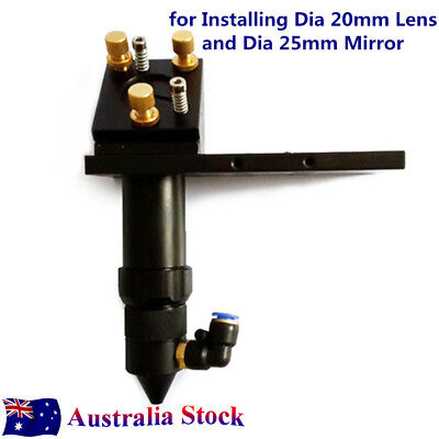 "AU-CO2 Laser Cut Head with Air Assist &Laser Dot Frame for Install Dia 1"" Mirror"