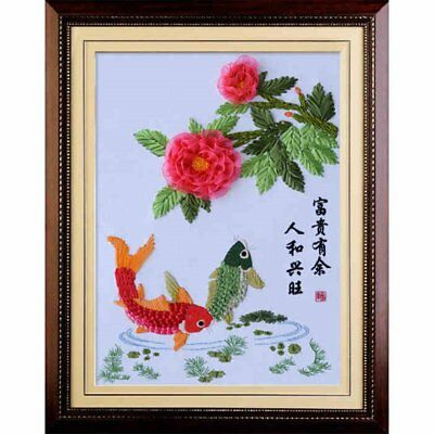 Silk Ribbon Embroidery Kit Handmade for Beginner Oriental Wall Hanging Art Asian