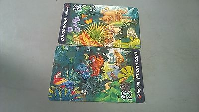 Zoo Set mint  phonecards prefix  596  597
