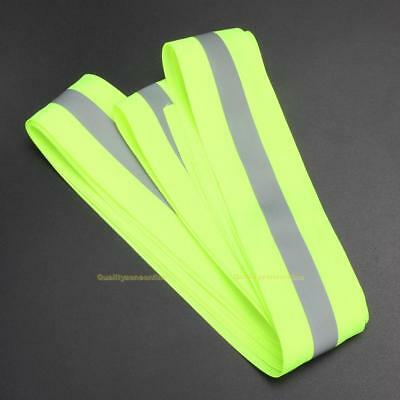 "REFLECTIVE TAPE LIME/SILVER SEW-ON 2""x10 YARDS $1.099/Yard (30 FT)"