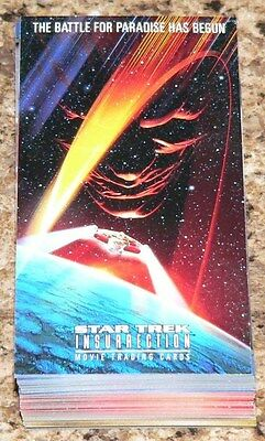 Star Trek Insurrection 72 card complete base set by Skybox in 1998.