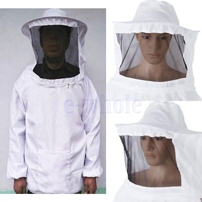 Veste d'apiculture Veil Bee Keeping Suit Hat Pull Over Manteau de protection KK