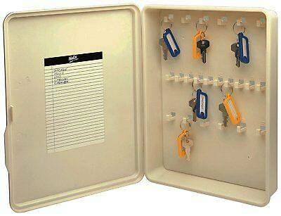 22 Key Storage Cabinet Safe Wall Mount Lock Box Hook Organizer Holder Security