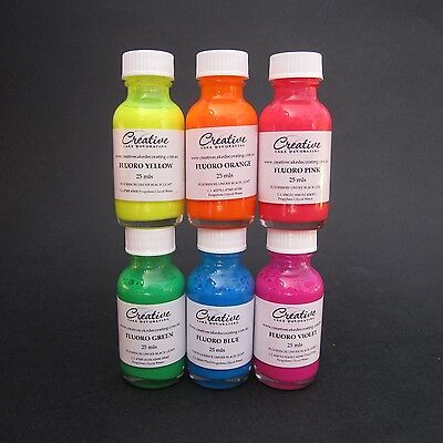 Creative Cake Decorating FLUORO (neon) Liquid Colour 25ml - choice of 6 colours