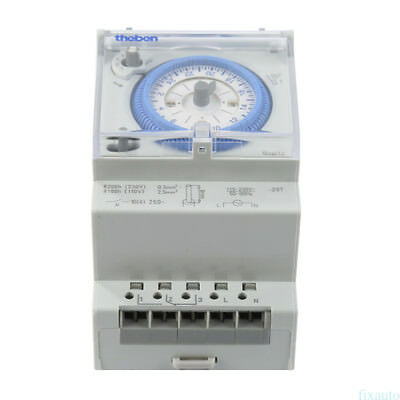 24 hours 3-Module Segment Mechanical DIN RAIL Timer Switch with Power Reserve