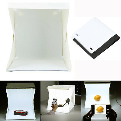 LED Light Room Photo Studio Photography Lighting Tent Kit Backdrop Cube Mini Box