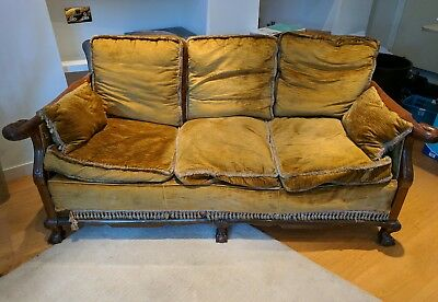 Empire style swan sofa and 2 airmchairs