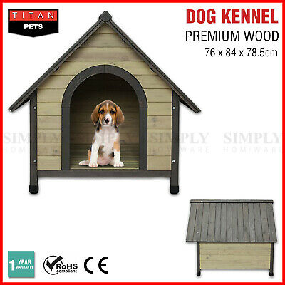 Pet Dog Kennel House Extra Large Timber Wooden Log Cabin Wood Outdoor Indoor L