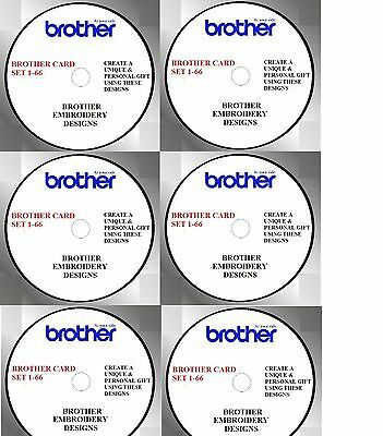 Embroidery Designs Brother Cards 1- 66 Buy 2 Cds & Get Free Font Cd Pes Format