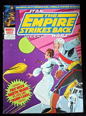 Star Wars weekly marvel comic The empire strikes back  number  138   16-10-1980