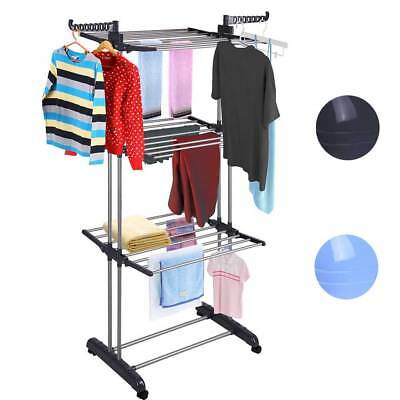 Foldable 6 Tiers Clothes Airer Laundry Drying Rack Horse Garment Hangers Indoor