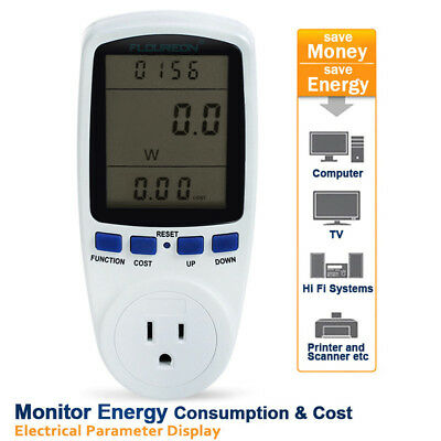 Digital Power Energy Meter Voltage Amps Electricity Usage Monitor Reduce Costs