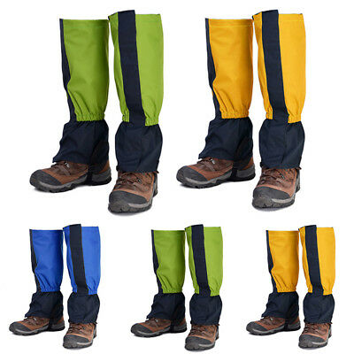 Adult/kid Waterproof Outdoor Legging Wrap Hiking Snow Ski Gaiter Cover Boot Shoe